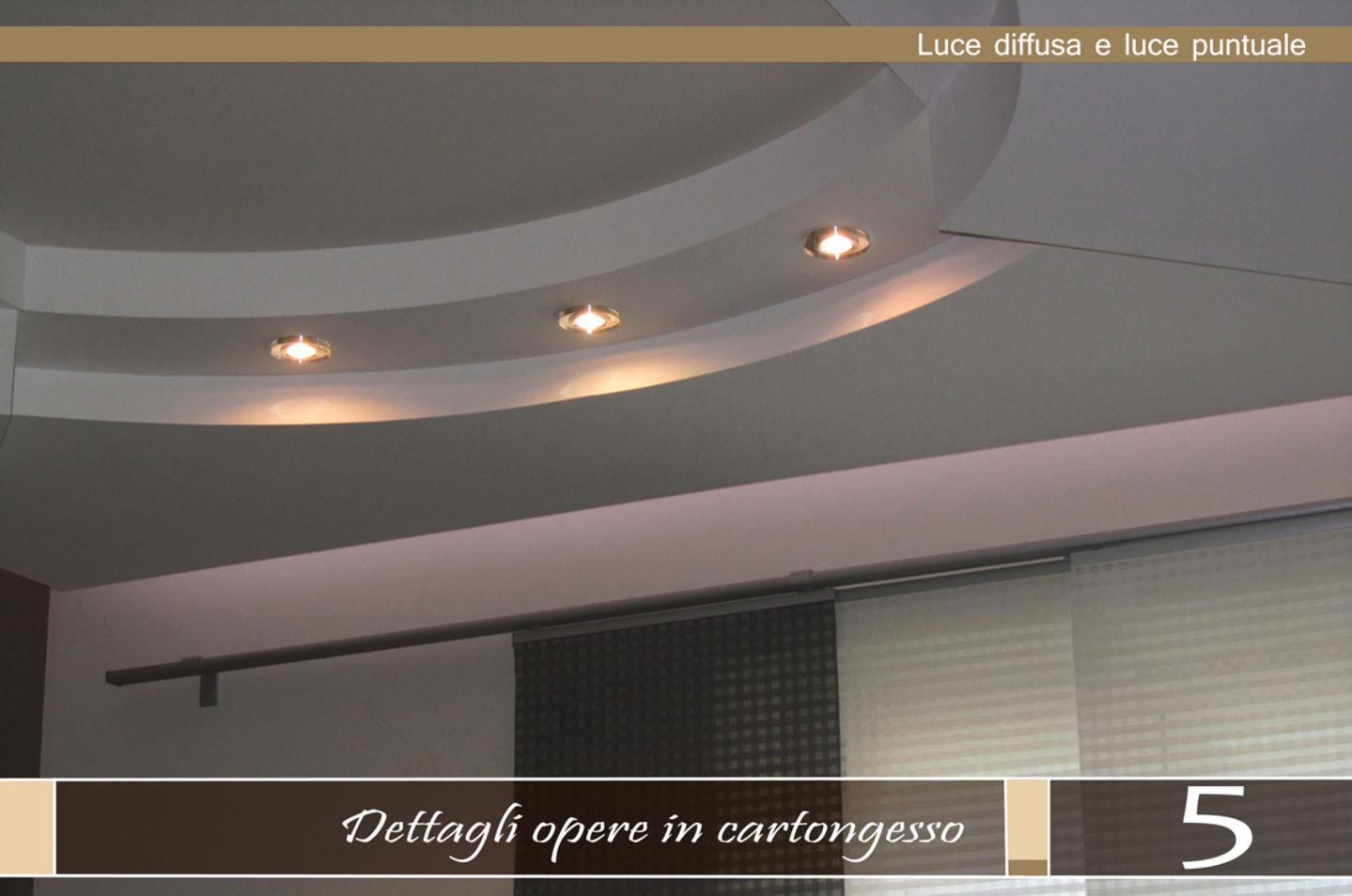 Illuminazione Salotto Cartongesso: Come disporre i punti ...